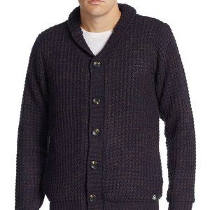 American Stitch Chunky Knit Elbow-Patch Cardigan